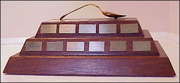 The Bent Spoon Award on its Plinth